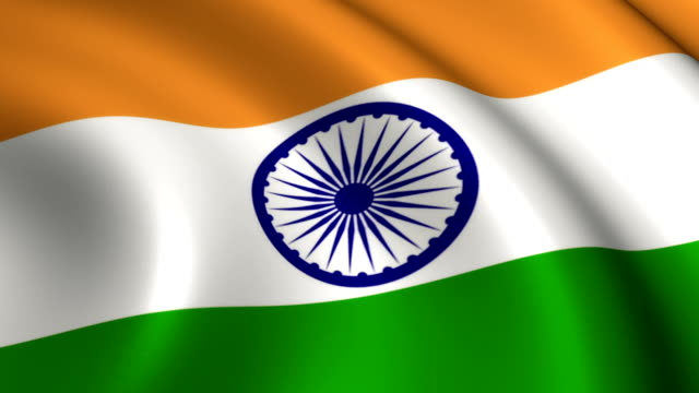 India Flag Loopable video