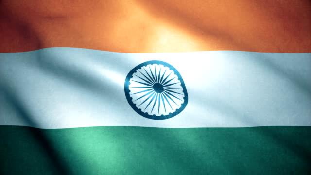 hindistan bayrağı - cumhuriyet günü stok videoları ve detay görüntü çekimi