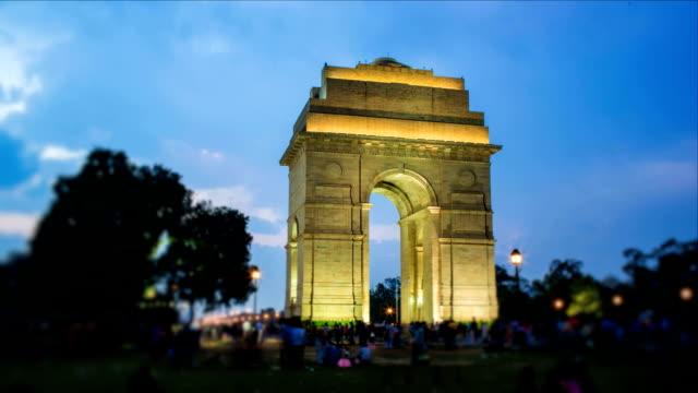 vídeos de stock, filmes e b-roll de india gate - nova delhi
