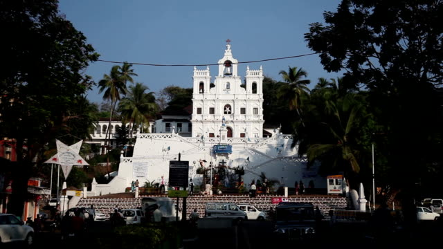 India, Goa, Church of Mary Immaculate Conception in Panaji video