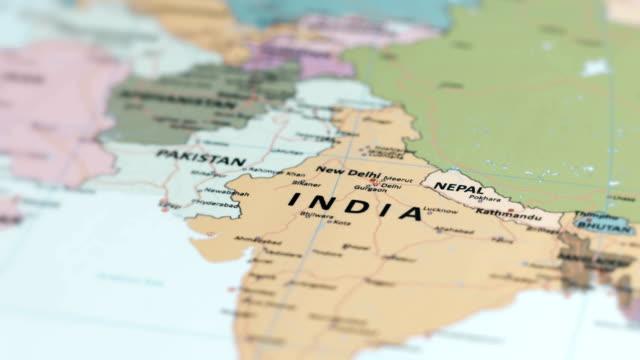 stockvideo's en b-roll-footage met asia india op wereldkaart - india