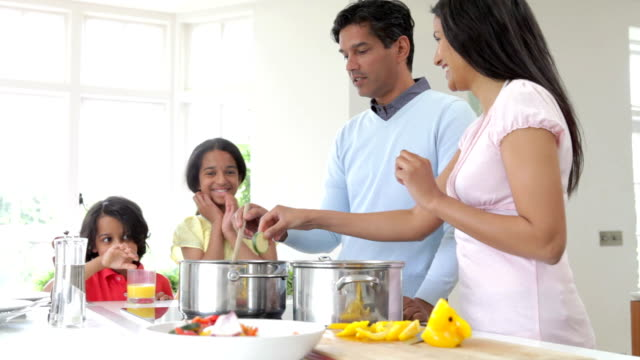 Indian Family Cooking Meal At Home video