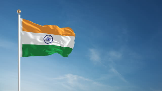 4K Indian Flag - Loopable video