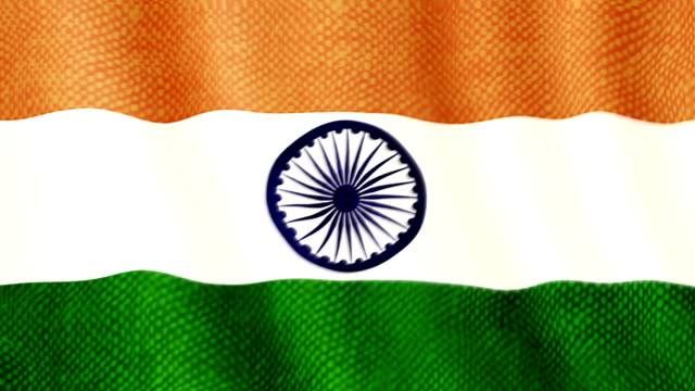 Indian flag waving animation video