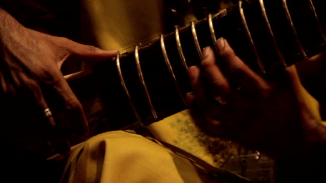 Indian musician playing the sitar video
