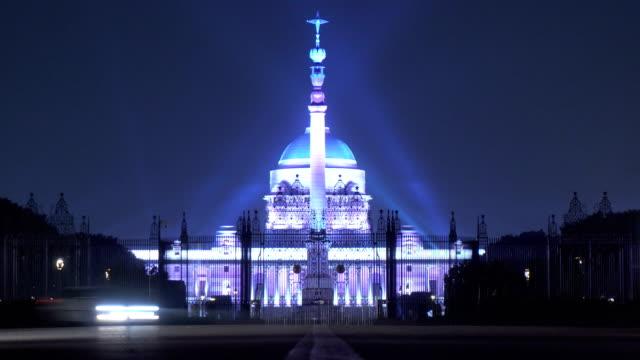 vídeos de stock, filmes e b-roll de construção do parlamento indiano - casa do presidente em delhi, índia - nova delhi