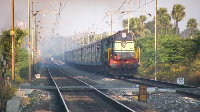 Indian railways passenger train Indian railways passenger train indian subcontinent ethnicity stock videos & royalty-free footage