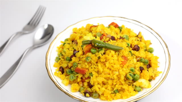 Indian Snack called Poha or Chivda popular breakfast video