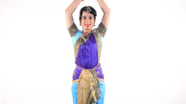 Indian Woman Performing Bharatanatyam