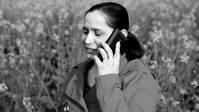 Indian Women Talking on Smartphone video