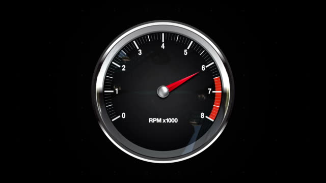 Indicated five point of RPM gauge. video