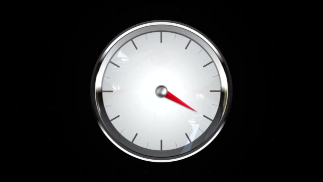 Indicated four o'clock point. gauge or watch animation. video