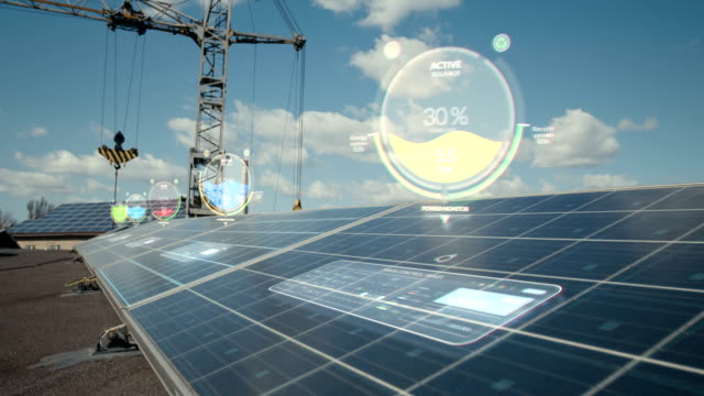 indikatoren über sonnenkollektoren - effektivität stock-videos und b-roll-filmmaterial