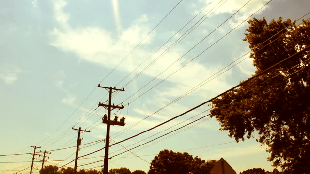 Indie Hipster Timelapse against telephone lines video