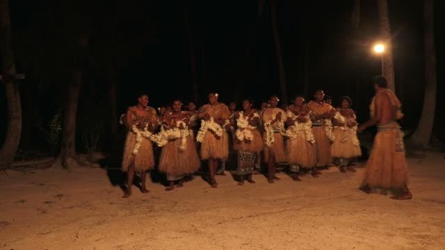 Indigenous Fijian people sing and dance video