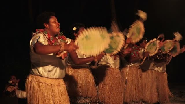 Indigenous Fijian women dancing the traditional Meke female dance video