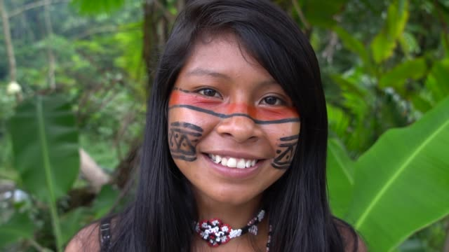 Indigenous Woman in Brazil Indigenous Woman in Brazil minority groups stock videos & royalty-free footage