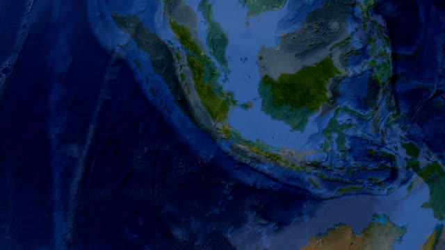 Indonesia  Jakarta zoom in from space and focus on Indonesia  Jakarta jakarta stock videos & royalty-free footage