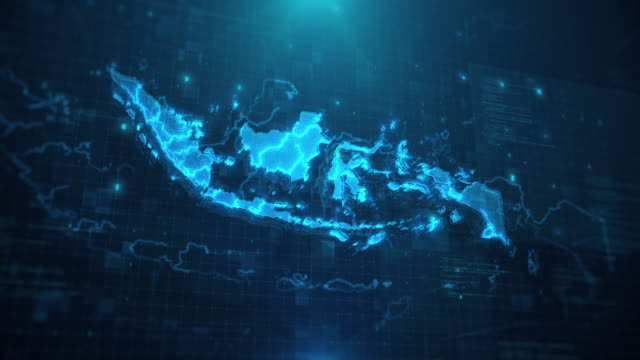 Indonesia Map against blue animated background 4k UHD Indonesia Map against blue animated background 4k UHD indonesia stock videos & royalty-free footage