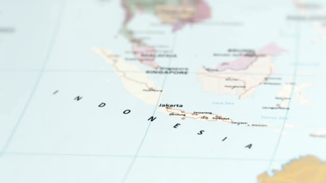 ASIA Indonesia on World Map