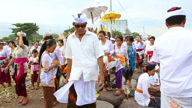 Indonesian people celebrate Balinese New Year