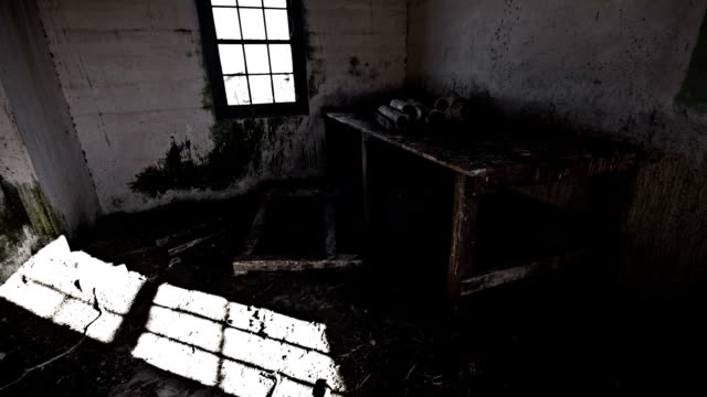 Indoor of abandoned building with shadow timelapse video