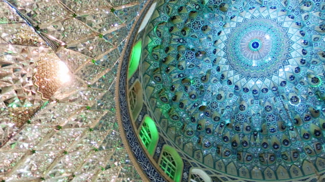 カシャンのモスクの屋内 - モスク点の映像素材/bロール