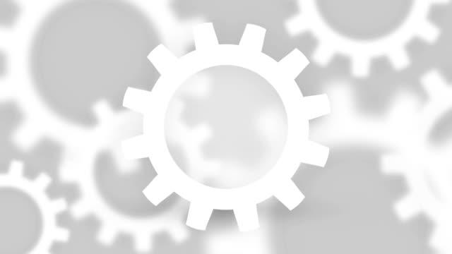 industriella bakgrund med vit kugghjul - wheel black background bildbanksvideor och videomaterial från bakom kulisserna