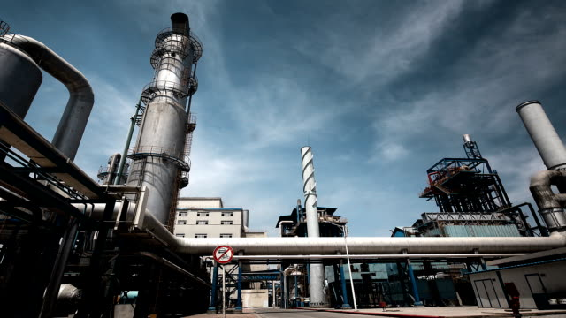 産業の建物 lng 石油/ガス機器 - 工場点の映像素材/bロール