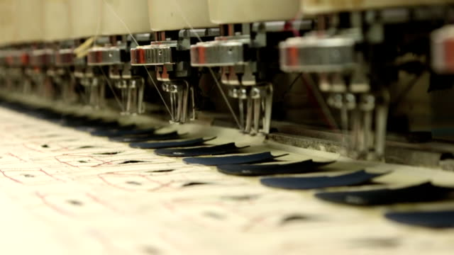industrial embroidery and sewing machine video
