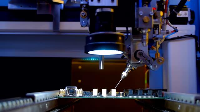 電子回路の組立の品質検査装置 - 半導体点の映像素材/bロール