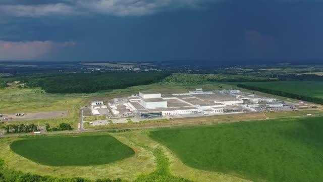 Bидео Industrial estate land development aerial view