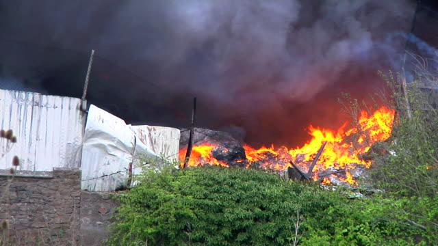Industrial fire video