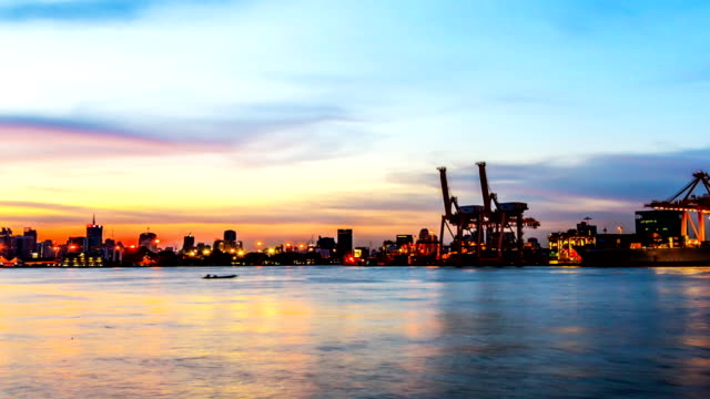 Industrial Goods Ship Trading Time lapse Zoom and Dolly video