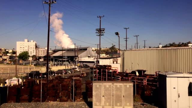 Industrial inner city Los Angeles hyperlapse video