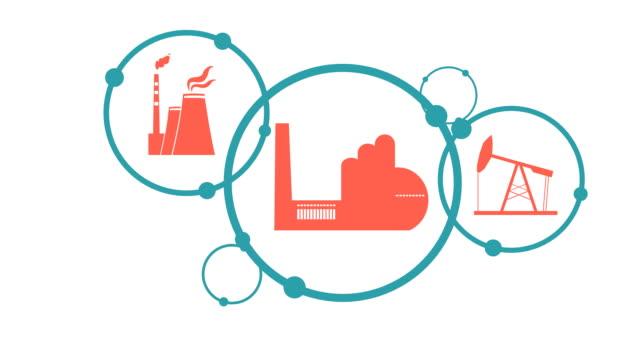 vídeos de stock e filmes b-roll de industrial intro design. - circular economy