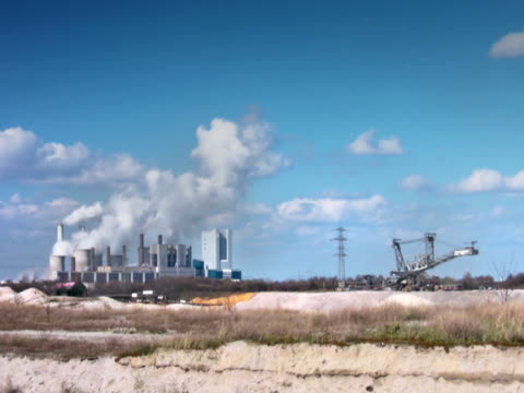 ntsc: paesaggio industriale (time lapse - attrezzatura energetica video stock e b–roll