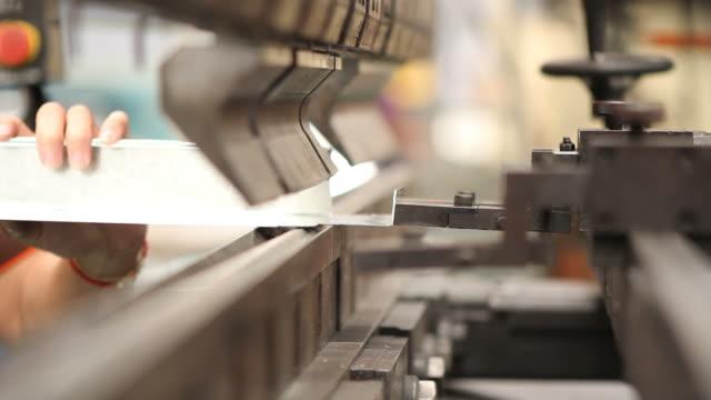 HD : Industrial metal folding Machine video