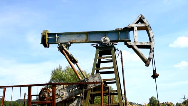 Industrial oil pump jack video