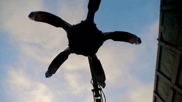 Industrial Peel Grab Falls on Camera video