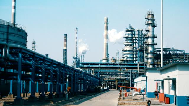 stockvideo's en b-roll-footage met fabrieksinstallatie - chemische fabriek