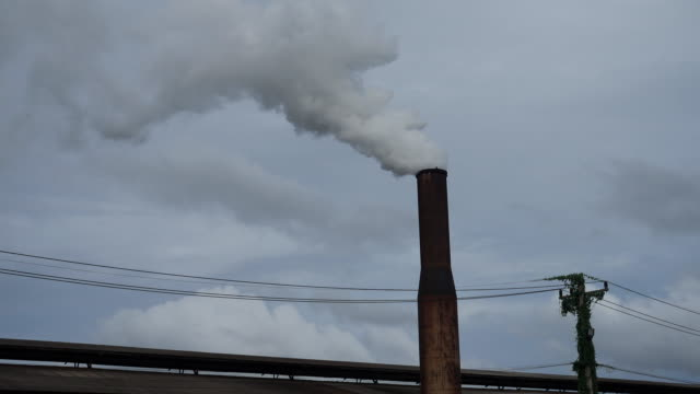Industrial pollution. video