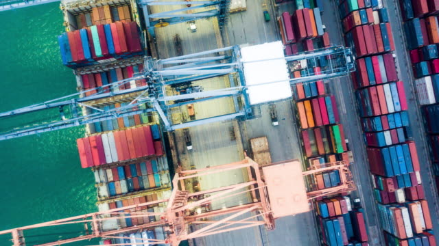 Industrial Port Above view aerial view,timelapse industrial ship stock videos & royalty-free footage