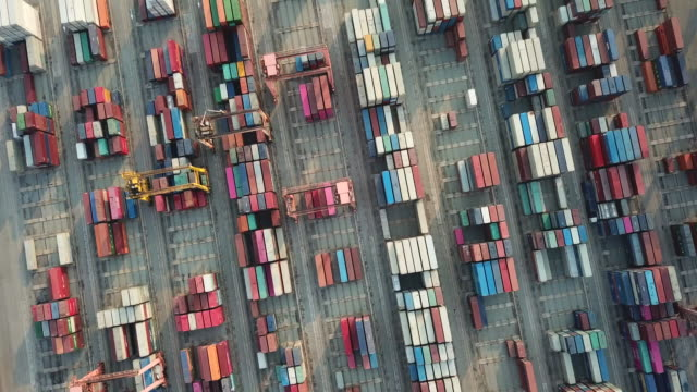 Industrial port with Container port in Bangkok Thailand