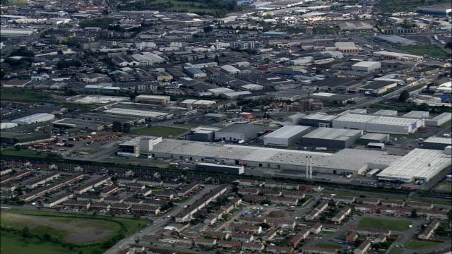 Industrial Site  - Aerial View - helicopter filming,  aerial video,  cineflex,  establishing shot,  Ireland video