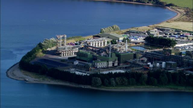 Industrial Sites In Cork Harbour  - Aerial View - Munster, Cork, Ireland video