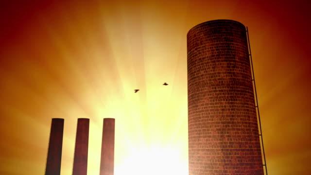 産業の夕日 - 煉瓦点の映像素材/bロール