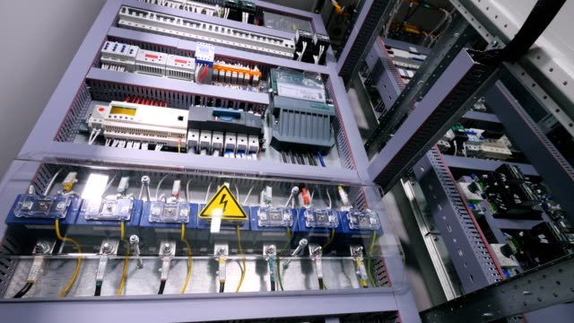 Industrial switch Fuse box. Electricity, power, fuse.
