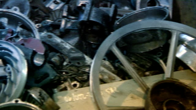Industrial video - materials. Recycling or recovery. Scrap metal  04 video