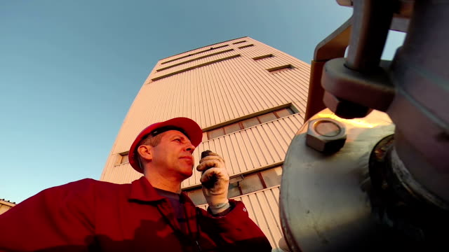 Industrial Worker With Communication Radio video